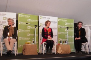 At Byron Bay Writers Festival with Jane Caro and Robyn Cadwallader